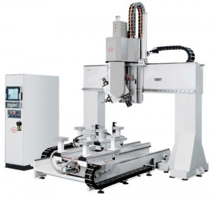 PADE Clipper CNC work center open beam portal 6 axis