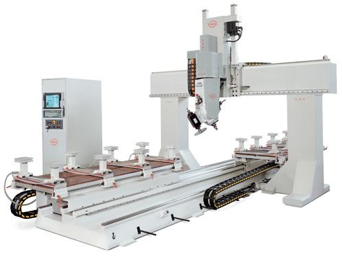 PADE Spin SL CNC Work center portal 6-axis open beam